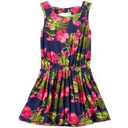 ec36ec25c405 Poof Big Girls Tropical Floral Dress