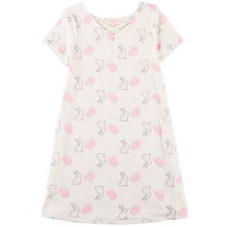 Poof Big Girls Easter Bunny Floral Dress