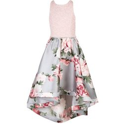 Speechless Big Girls Floral Lace Bodice Dress