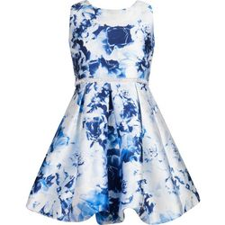 Speechless Big Girls Floral Mikado Dress