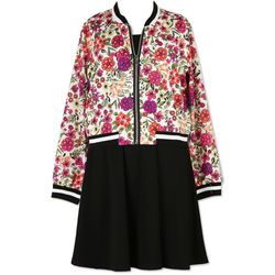 Speechless Big Girls Floral Jacket Dress