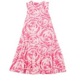 1st Kiss Big Girls Tie Dye Sleeveless Swing Dress