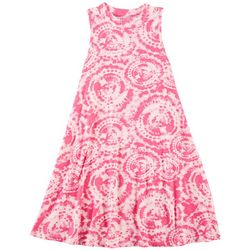 1st Kiss Big Girls Tie Dye Sleeveless Swing Dress