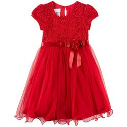 Bonnie Jean Little Girls Lace Ballerina Christmas Dress