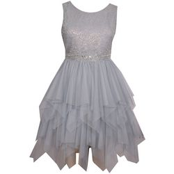 Bonnie Jean Little Girls Shimmery Fairy Hem Dress
