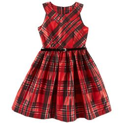 Bonnie Jean Big Girls Plaid Dress