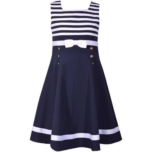 bd8e545cc2196 Bonnie Jean Little Girls Stripe Print Nautical Dress | Bealls Florida