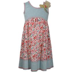 Bonnie Jean Little Girls Floral Stripe Dress