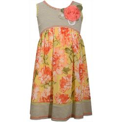 Bonnie Jean Little Girls Striped Floral Dress
