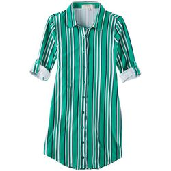 No Comment Big Girls Stripe Tie Waist Dress