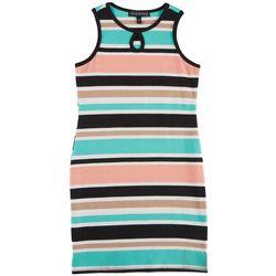 Derek Heart Girl Big Girls Stripe Keyhole Tank Dress