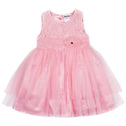 Little Lass Little Girls Floral Lace Tulle Dress
