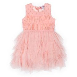 Little Lass Little Girls Sparkled Fairy Tiered Tulle Dress