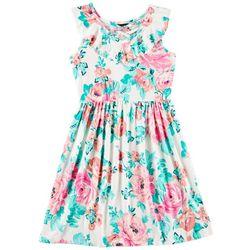 Paper Doll Big Girls Floral Ruffle Dress
