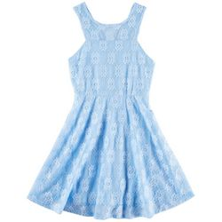 Paper Doll Little Girls Floral Lace Dress
