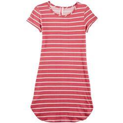 Cute 4 U Big Girls Striped T-Shirt Dress