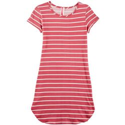 Cute 4 U Big Girls Striped T-Shirt Dress