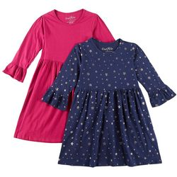 Freestyle Big Girls 2-pk. Star Print and Solid Dresses