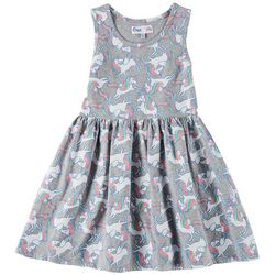 Freestyle Little Girls Unicorn Magic Sleeveless Dress