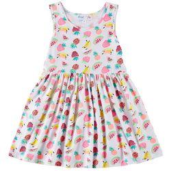 Freestyle Little Girls Fruity Sleeveless Dress