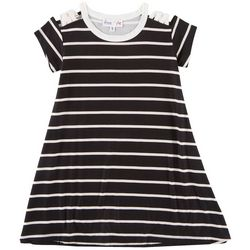 Freestyle Big Girls Stripe Crisscross Shoulder Dress