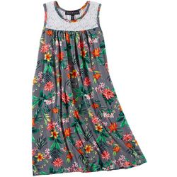 Derek Heart Girl Big Girls Floral & Striped Dress