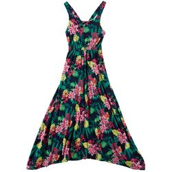 Derek Heart Girl Big Girls Tropical Floral Print Maxi Dress