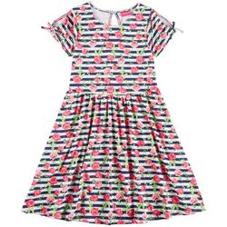 Penelope Mack Little Girls Striped Floral Dress