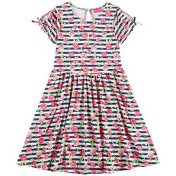 Penelope Mack Big Girls Striped Floral Dress