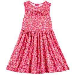 Penelope Mack Big Girls Floral Ruffle Sleeveless Dress
