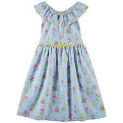 Penelope Mack Big Girls Floral Stripe Jessie Dress