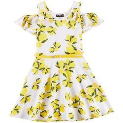 RMLA Little Girls Lemon Print Cold Shoulder Dress