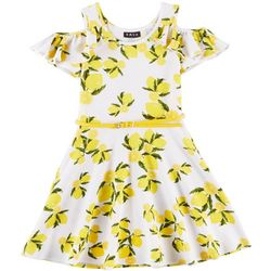 RMLA Little Girls Lemon Print Cold Shoulder Dress