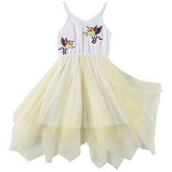 RMLA Little Girls Embroidered Unicorns Tulle Overlay Dress