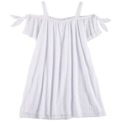 RMLA Little Girls Medallion Lace Cold Shoulder Dress