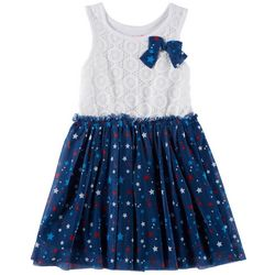 Nannette Little Girls USA Stars Dress