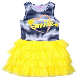 Nannette Little Girls Smile Striped Tiered Dress