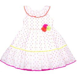 Nannette Little Girls Clip Dot Print Sundress