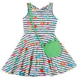 Nannette Little Girls Striped Floral Sundress