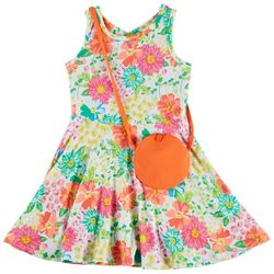 Nannette Little Girls Floral Print Sundress