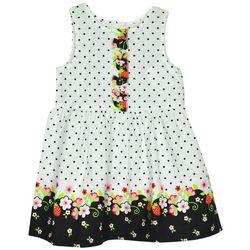Samara Little Girls Floral Dot Sleeveless Dress