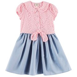 Marmellata Little Girls Lace Tie Front Dress