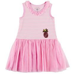 Marmellata Little Girls Striped Pineapple Dress
