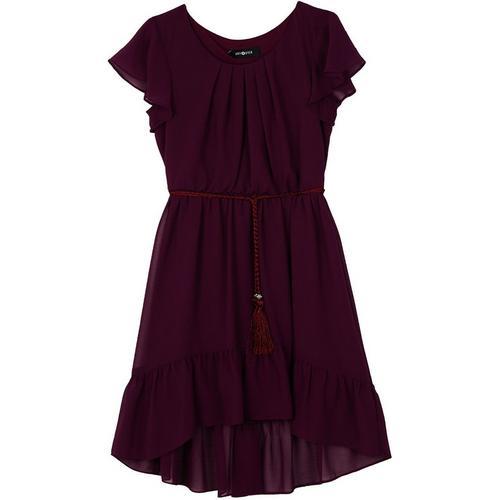 f39ebb8164ed Amy Byer Big Girls Solid Ruffle High-Low Dress