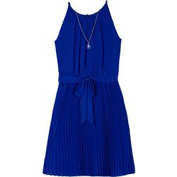 Amy Byer Big Girls Solid Pleated Tank Dress