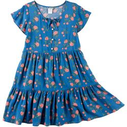 Emily West Big Girls Floral Tiered Dress