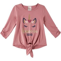 Lily Bleu Big Girls Unicorn Squad Tie Front Top