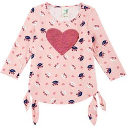 Lily Bleu Big Girls Sequin Heart Top