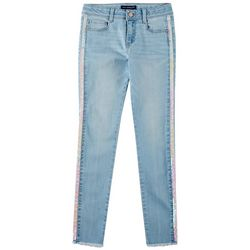 Vanilla Star Big Girls Sequin Side Tape Denim Jeans