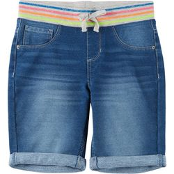 Vanilla Star Big Girls Denim Bermuda Shorts